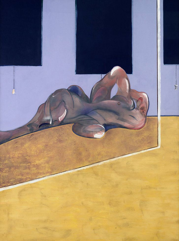 Francis Bacon,Lying Figure in Mirror (1971)