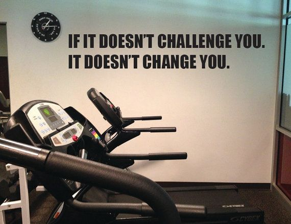 Motivational Gym Wall Decal, If it Doesn't Challenge You. It Doesn't Cha… – Fitness