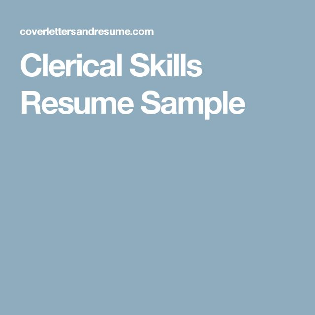 The 25+ best Clerical skills ideas on Pinterest Administrative - product architect sample resume