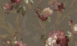 Tapet vinil verde rosu floral 1208 Cristina Masi Carlotta