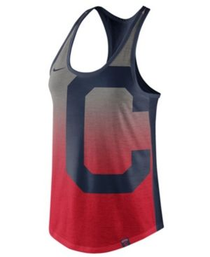 Nike Women's Cleveland Indians Fade Tank Top - Red XL