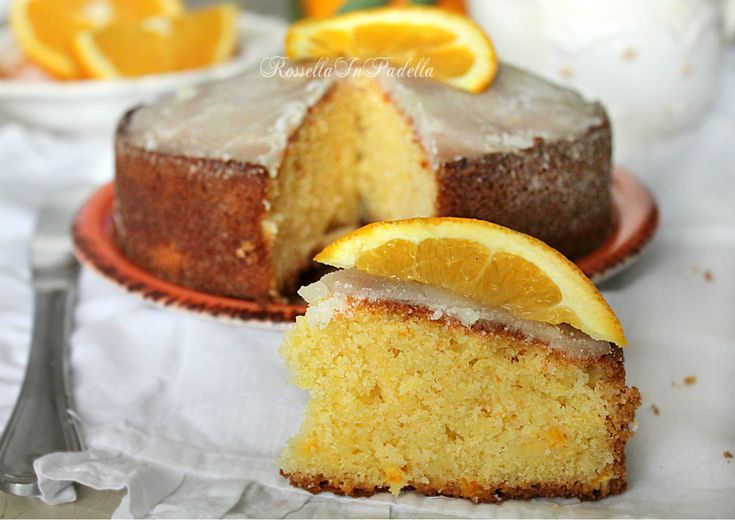 Pan d'arancio. Un dolce tipico siciliano. Basta un frullatore per prepararlo. Profumatissimo dolce a base di purea di arance
