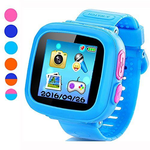 """Game Smart Watch for Kids, Children's Camera 1.5 """"Touch Screen Pedometer 10 Games Timer Alarm Clock Health Monitor Boys Girls Game Watches(Light blue)   Read more at SMART News : http://www.newtabapps.com/?p=23163  This is a bright and colorful 1.5-inch touch screen children's game smart watch, teaching and entertainment 3 to 12 year old child, this is just a watch, but also innovative children's electronic learning toys, can make the children arrange their time e"""