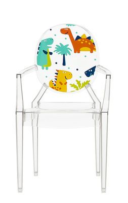 Lou Lou Ghost Children armchair - / Patterns Transparent / Dinosaurs by Kartell - Design furniture and decoration with Made in Design
