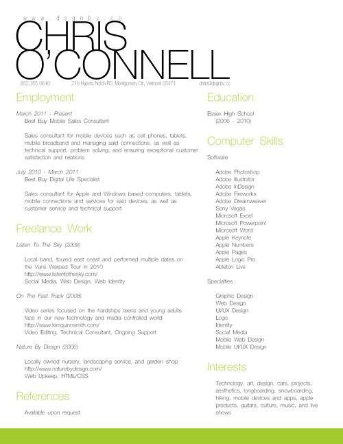personal resume for 2012 designed entirely in adobe indesign for both 85x11 and a4 - Indesign Resume Template