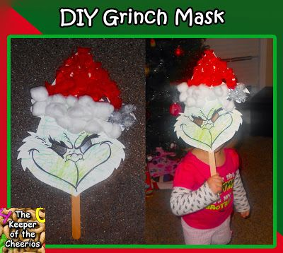 DIY Kids Grinch Mask – The Keeper of the Cheerios