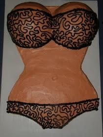 Bachelor party cake, lingerie