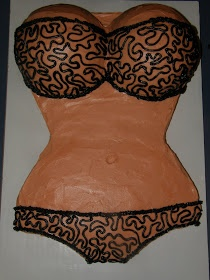 Bachelor party cake, lingerie