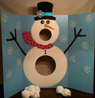 Snowman Game...I made this for my daycare children for a Christmas game. I spent very little money on it and the kids had fun!! (Mine didn't look quite as good as the one pictured...but same idea!!)