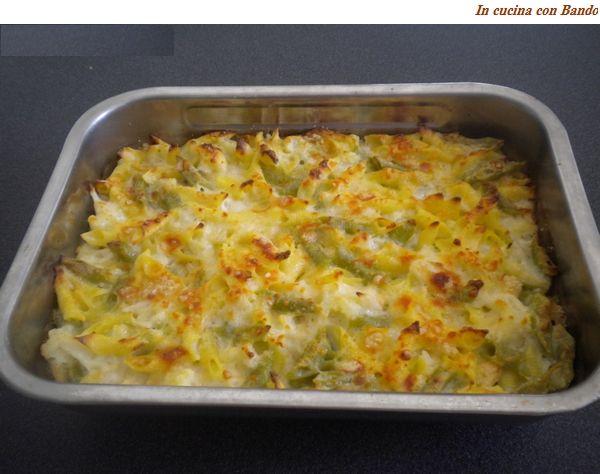Pasta al forno con gli asparagi