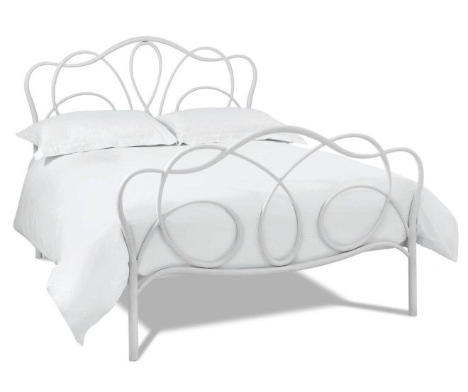 Bentley Designs Serenity White Bedstead... Price:  £338.00... Serenity White #Bedstead is constructed from high quality metal material, this #bed has high headboard and low footend, comes with spurn slatted base which will provide extra comfort and support whilst sleep in night,this bed emphasising the intricate beauty of the design to the more contemporary products, highlighting both simple and striking design features... #MetalBed #Bedframe #StylishBed #Furniture #MetalBedFrame #CheapBeds