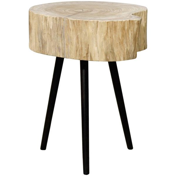dot u0026 bo angsana end table 310 cad liked on polyvore featuring home furniture tables accent tables wooden side table stump end table