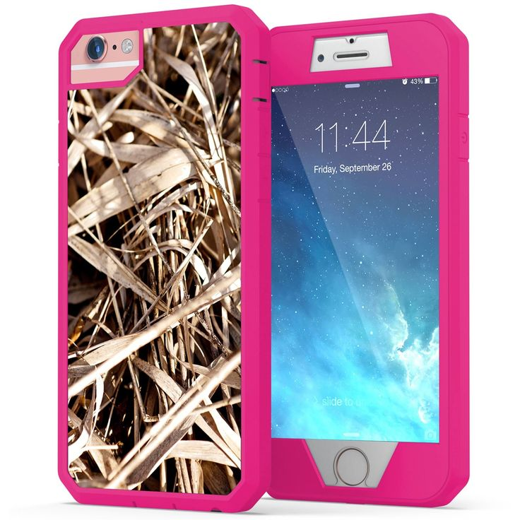 iPhone 6, iPhone 6s Camo Case, True Color Grass Camo [Camouflage Collection] Heavy Duty Hybrid + 9H Tempered Glass 360° Protection [True Armor Series] - Pink. New 'True Armor' Case for iPhone 6 and iPhone 6s by True Color© - 3 parts Heavy Duty 360° Protection by soft casing combined with hard front bezel + tempered glass gives you the ultimate protection but keeps your phone slim and stylish!. Top quality materials, hard back casing molded with soft shock absorbing bumper + Hard Durable...