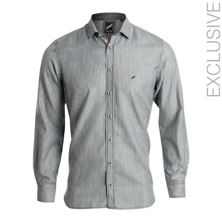 Daniel Hechter Anthracite Cotton Oxford Stripes Shirt | اشتري على النت Jumia Egypt