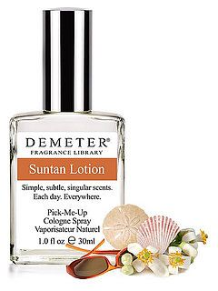 Demeter Fragrance Suntan Lotion Review
