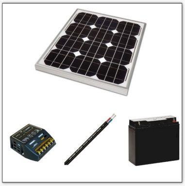 Kit solaire discount avec batterie 12V 30W