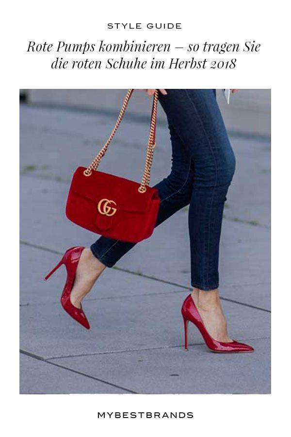 Rote Pumps kombinieren so tragen Sie die roten Schuhe im