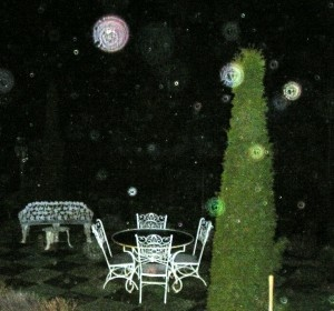 Spirit orbs captured on film — similar to photos Jack saw in the Lily Dale museum...
