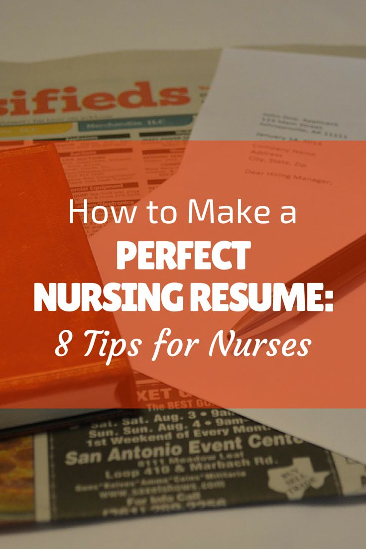How to Make a Perfect Nursing Resume