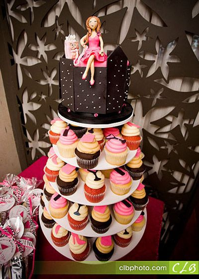Sex and the City Themed Bridal Shower Cupcakes