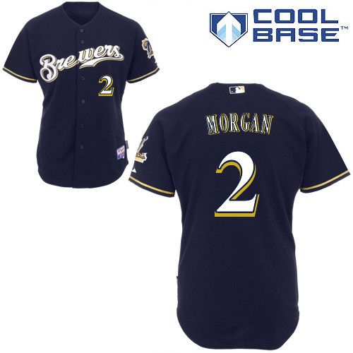 Milwaukee Brewers #2 Nyjer Morgan Blue Cool Base Men MLB Stitched Jersey  http:/