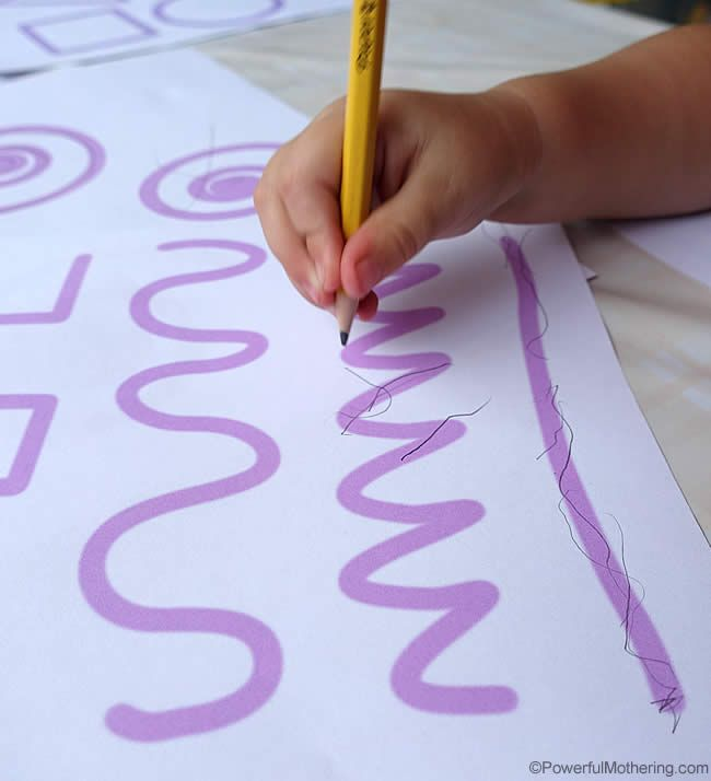 Pencil Control for Early Learners with FREE printables | Powerful Mothering