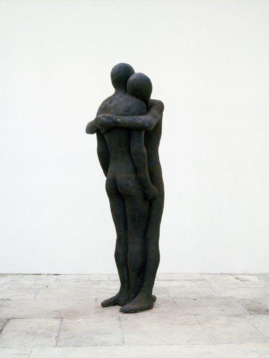 "Antony Gormley [UK] (b 1950) ~ ""MOUNTAIN AND SEA"", 1988. Iron and air (193 x 67 x 47 cm). | #art #sculpture #figurative"