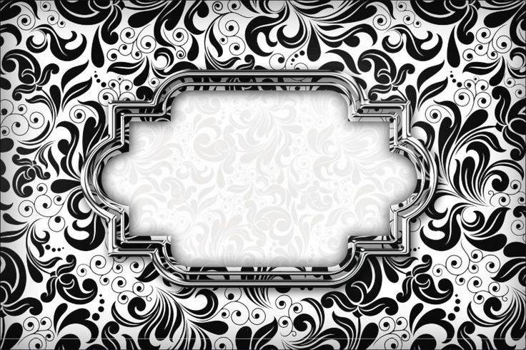 Black and White Damask Label : Free Printable Invitations.   Oh My Fiesta! in english