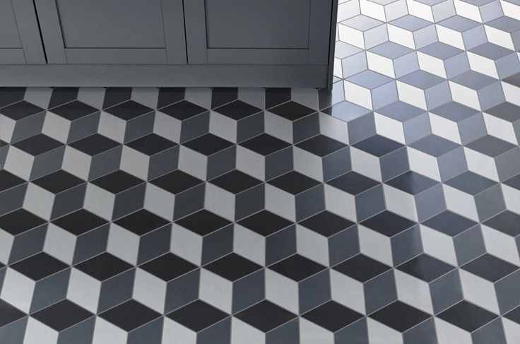 I love this bold tile pattern perfect for our 1970 39 s home on trend geometric design doblo for Geometric bathroom floor tile