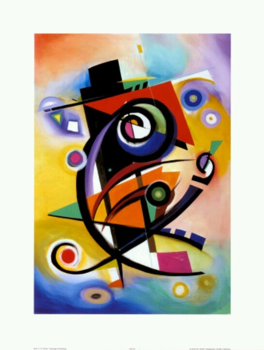 Beautiful homage to Kandinsky by Alfred Gockel!