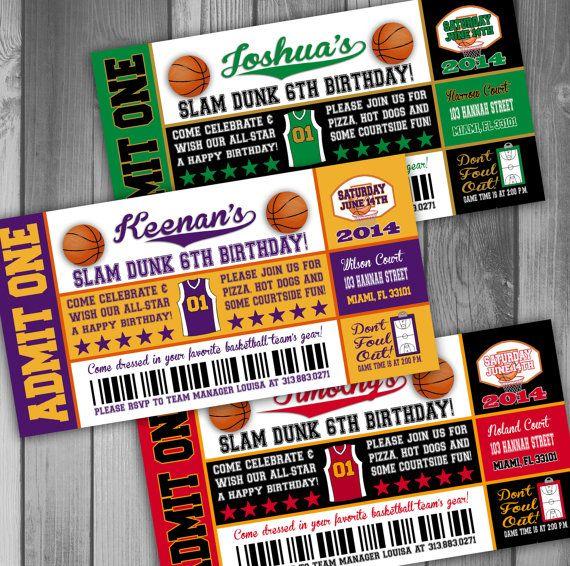 Basketball Birthday Invitation Boy Birthday Party by CLaceyDesign, $15.00
