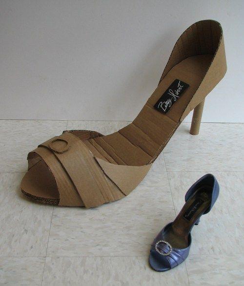 3-D Cardboard Shoes