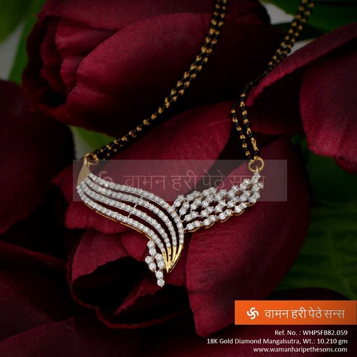 #Stylish #attractive #gorgeous #designer #gold #diamond #mangalsutra from our latest collection.