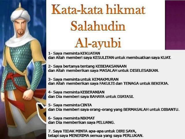 Kata-Kata Hikmat Salahudin Al-ayubi