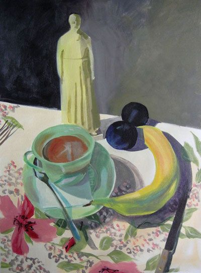 Still life paintings by Nathalie Dion,  Relique et vielles prunes, http://nathaliedion.ca/accueil/