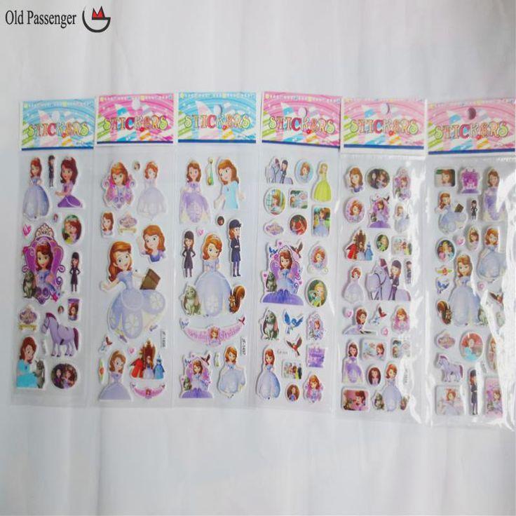 10Pcs / Lot Cartoon Sofia Princess Bubble Wall Sticker 3D Children Kids School Rewards Classic Wall Stickers For Kids Rooms