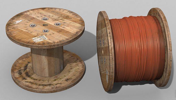 ArtStation - Wire Spool, Aaron Hausmann