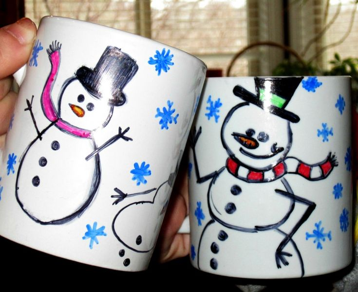 Winter Craft Project: How To Make Snowman Mugs to Celebrate World Day of Snowman