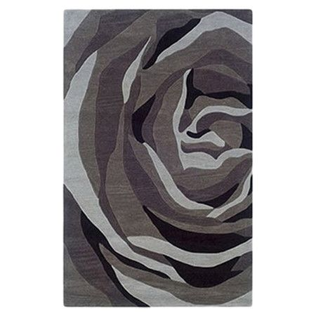 Found it at Wayfair - Trio With A Twist Grey & Charcoal Rug