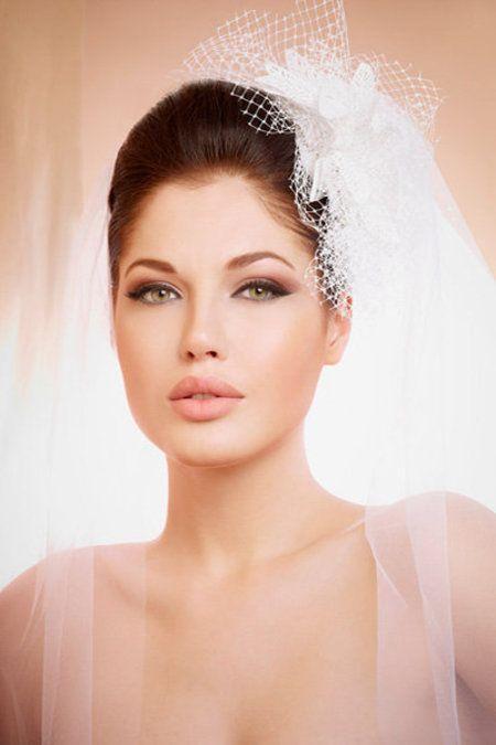 Simple And Elegant Bridal Makeup : elegant bride. See more bridal makeup and hair ideas on ...