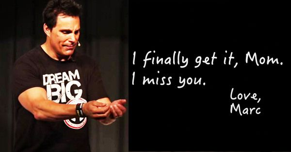 Important lesson from Marc Mero about creating transformation in your life. Remember the ones who are always there for you no matter what. Thank you Mom and Dad.