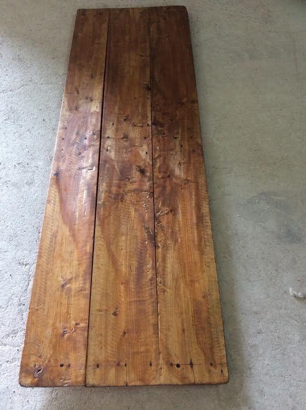 Encimera de madera recuperada.