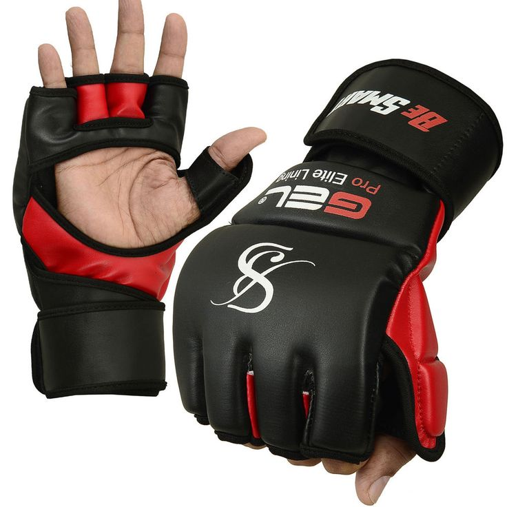 Auth. Rex Leather MMA Grappling Gloves Boxing Punch Bag UFC Gel Tech Muay Thai in Sporting Goods, Boxing, Gloves   eBay