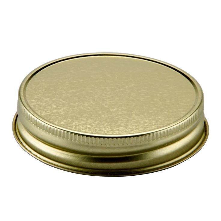 Libbey 92136 Gold Metal Drinking Jar Lid 12 Pack