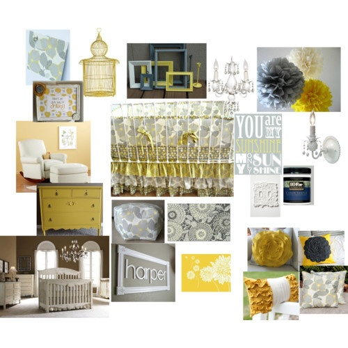 Yellow and Gray Child's Room
