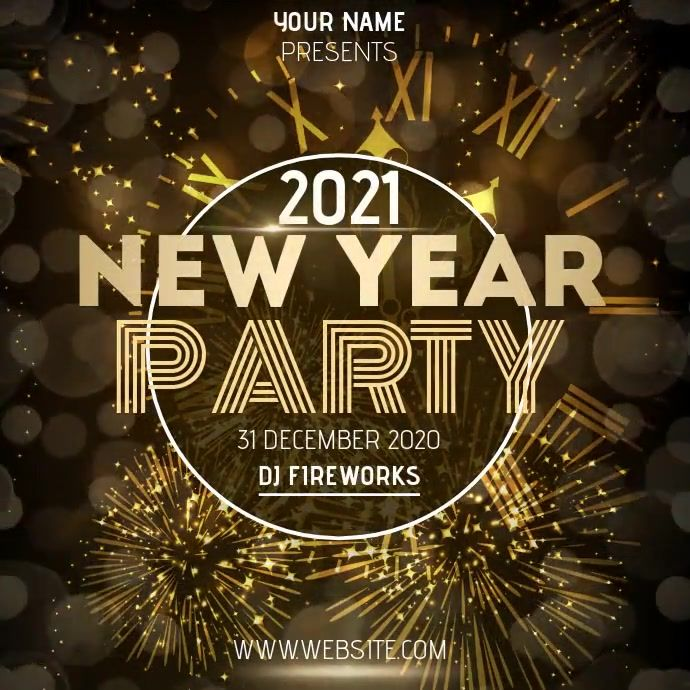 New Years Party Ad Template New Year S Eve Flyer Newyear New Years Party