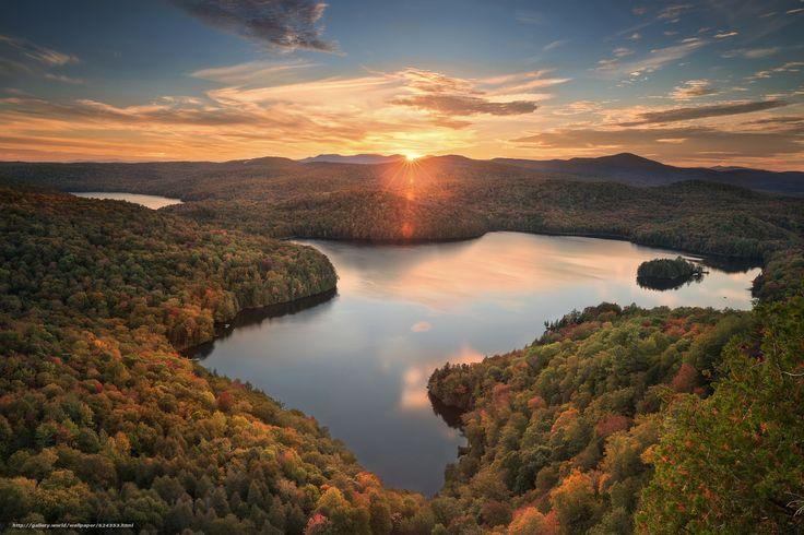 Vermont, Вудбери, Woodbury, Вермонт, Nichols Pond, пруд