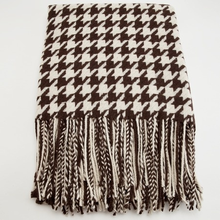 Chocolate Houndstooth Cashmere Blend Throw: Pur Cashmere, Cashmere Blend, Houndstooth Throw, Houndstooth Everything, Rolls Tide, Chocolates Houndstooth, Cashmere Events, Houndstooth Cashmere, Blend Throw