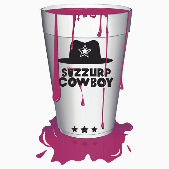 Sizzurp Cowboy, lean, purple drank, swag, dirty south, hip hop, codeine cowboy, dirty sprite, codeine, codeine cup, cup, sizzurp, drank, sip drank, double cup, sprite, prometh, syrup, drip, cup, drink, trippy, dope, purple swag, trill, promethazine, trap, pimp c, dj screw, h town, pour up, tx, texas, leaning, swisha, ugk, sip, sip drank, 2cups, slow, slow down, zro, prometh with codeine, drank in my cup, codeine shirt, sippin sizzurp, purp, asap, purple kisses, drugs  shirt