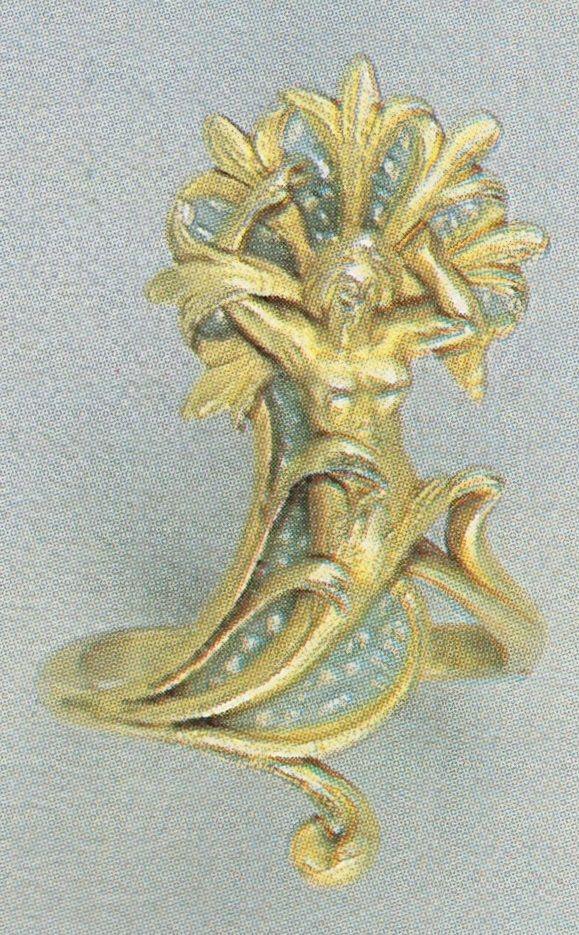 Georges Fouquet - An Art Nouveau gold and enamel ring, circa 1900. Signed G. FOUQUET, and numbered. Source: Die Fouquet 1860-1960 - Schmuck-Künstler in Paris. #Fouquet #ArtNouveau #ring